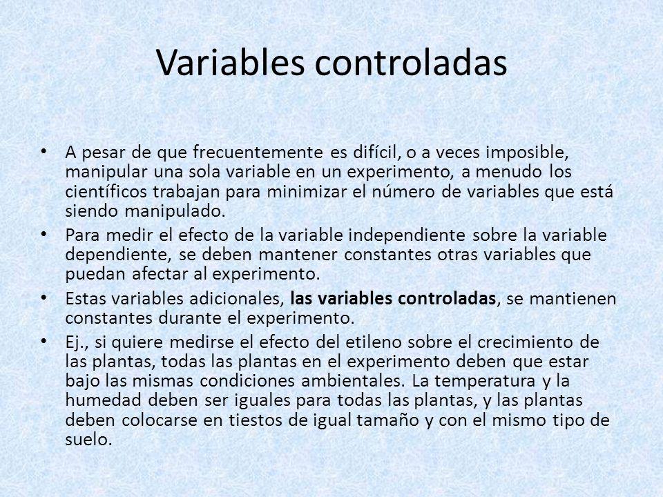 Variables controladas