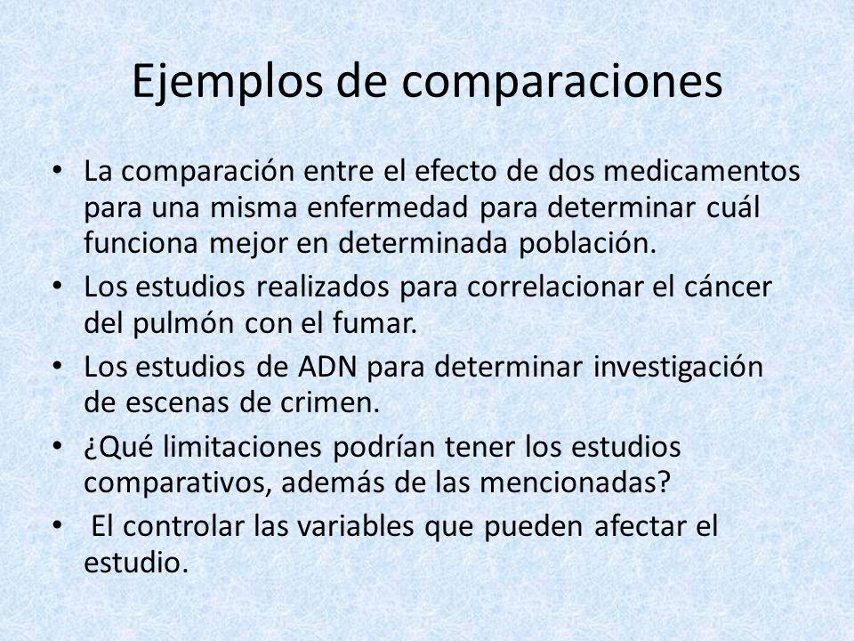 Ejemplos de comparaciones