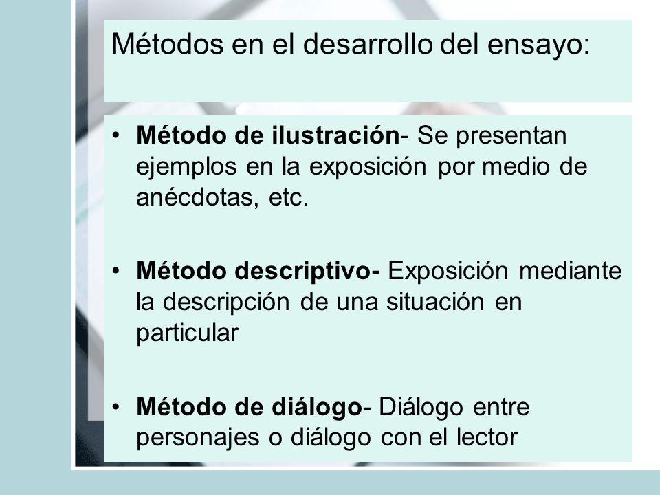 Métodos en el desarrollo del ensayo: