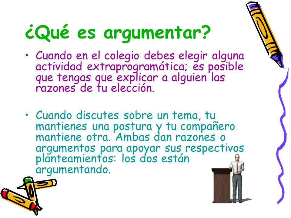 ¿Qué es argumentar
