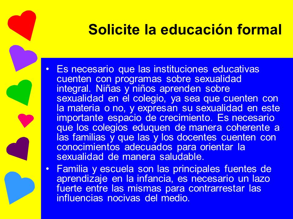 Solicite la educación formal