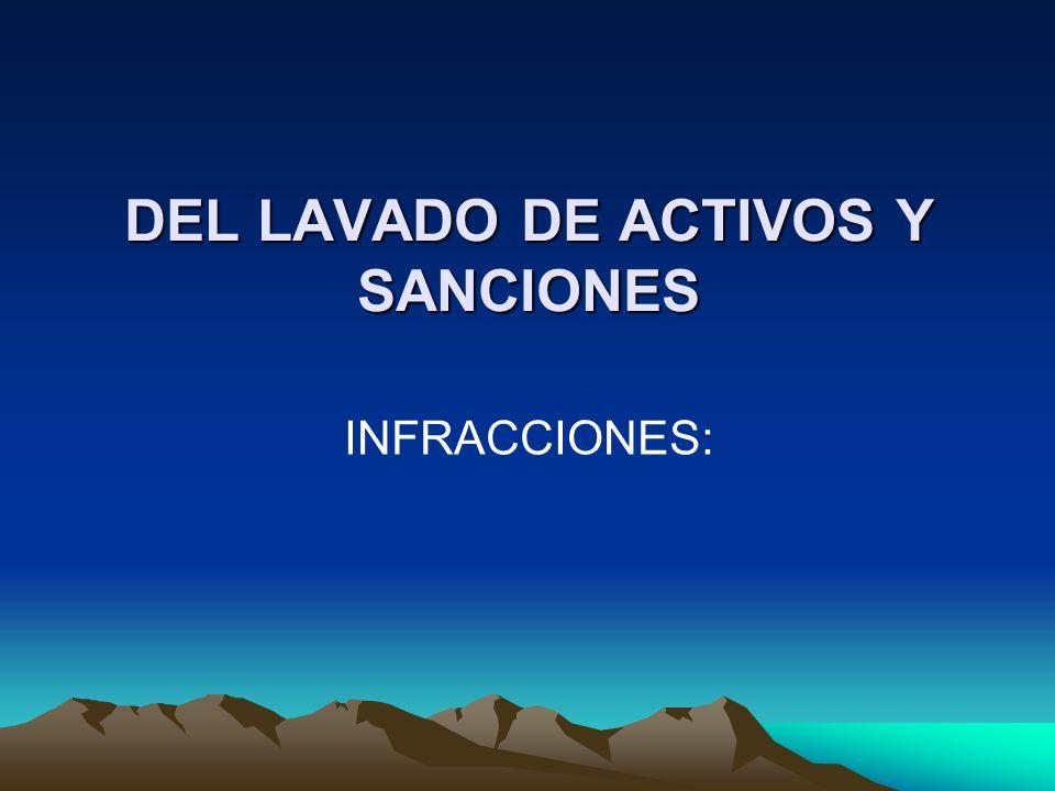 DEL LAVADO DE ACTIVOS Y SANCIONES