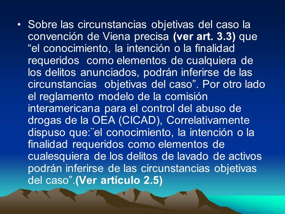 Sobre las circunstancias objetivas del caso la convención de Viena precisa (ver art.