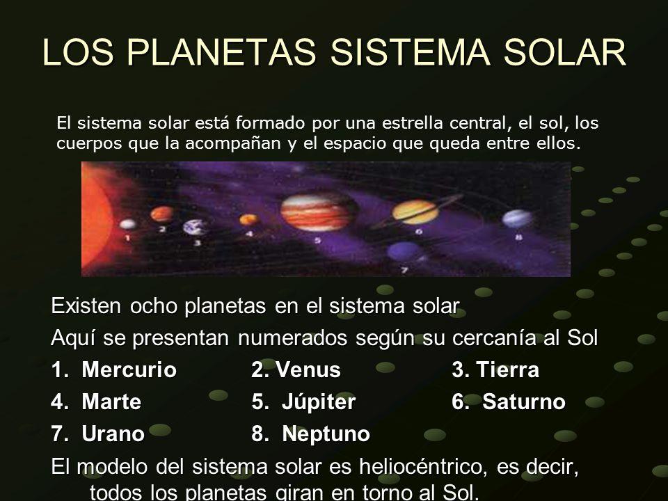 LOS PLANETAS SISTEMA SOLAR