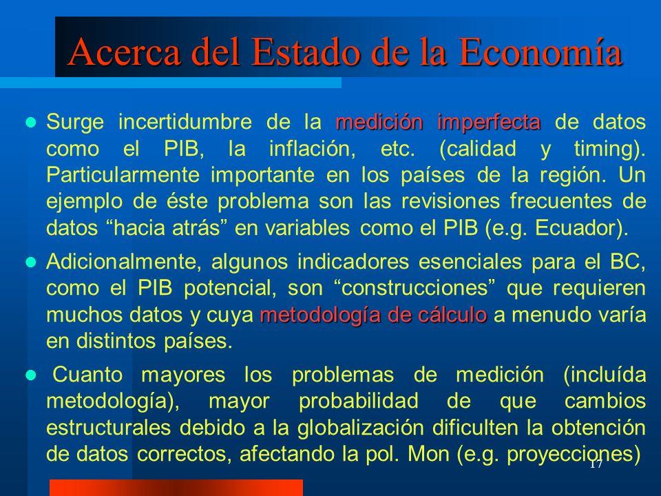 Acerca del Estado de la Economía