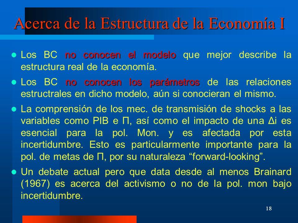 Acerca de la Estructura de la Economía I