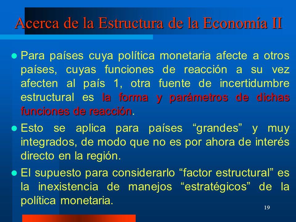 Acerca de la Estructura de la Economía II