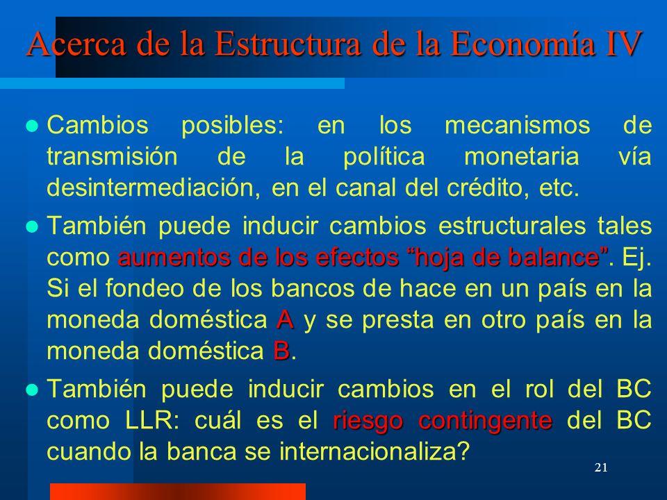Acerca de la Estructura de la Economía IV