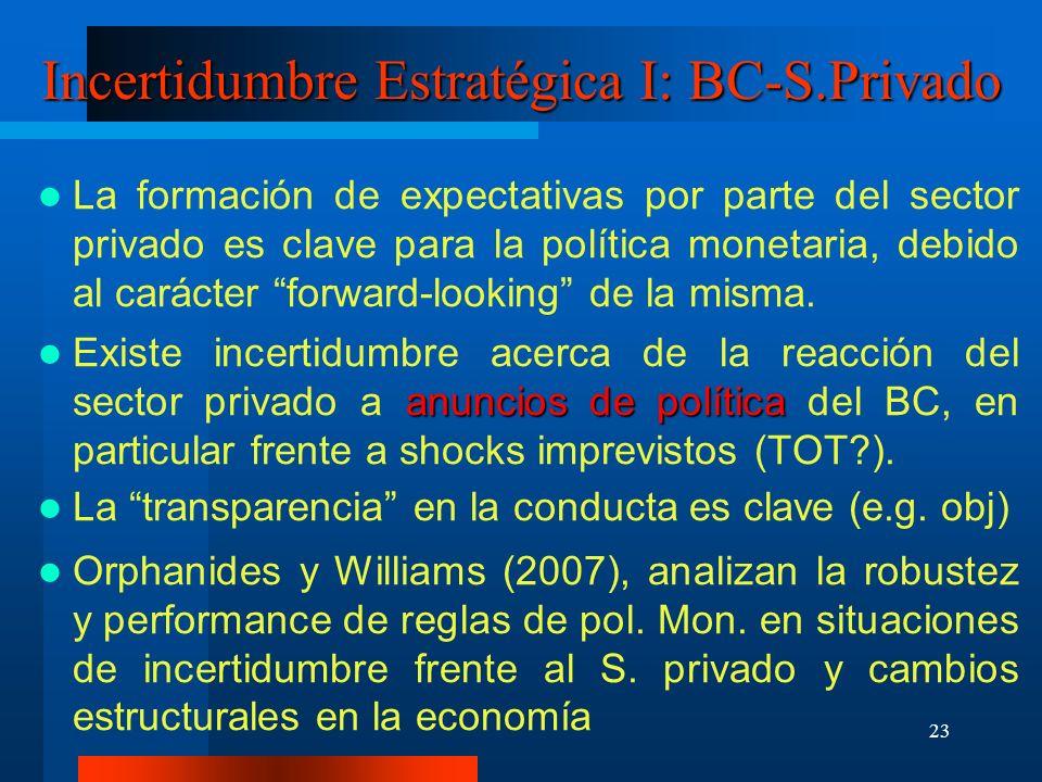 Incertidumbre Estratégica I: BC-S.Privado