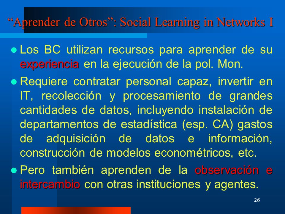 Aprender de Otros : Social Learning in Networks I