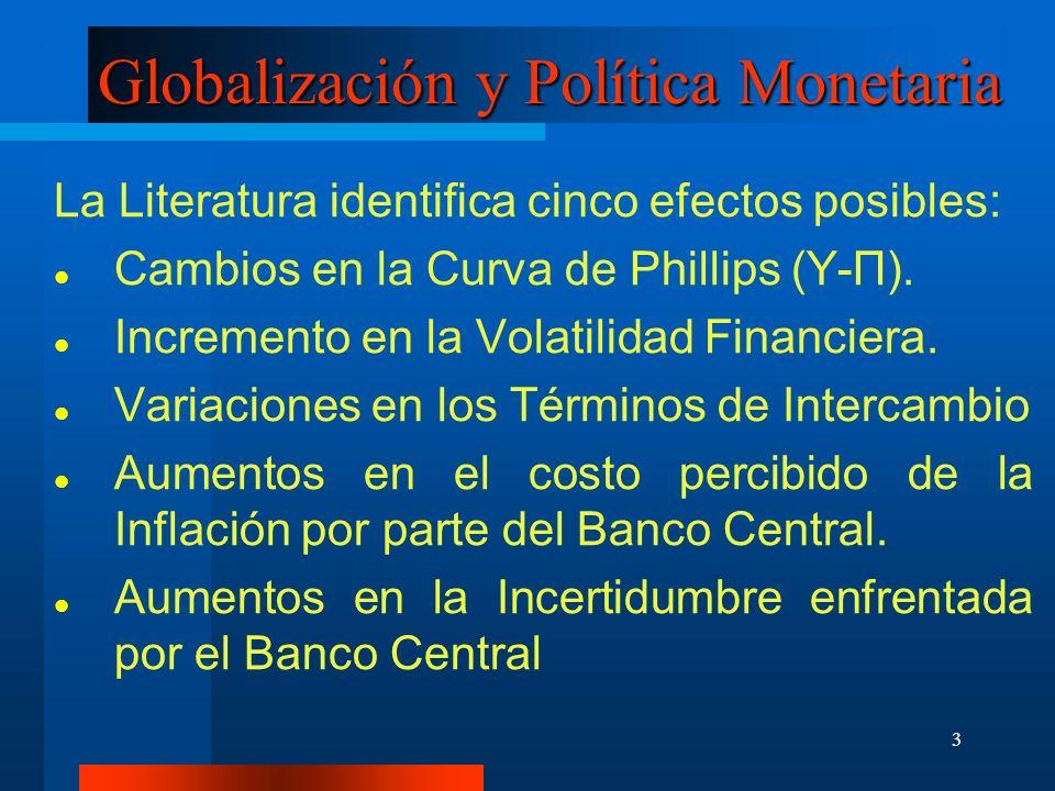 Globalización y Política Monetaria
