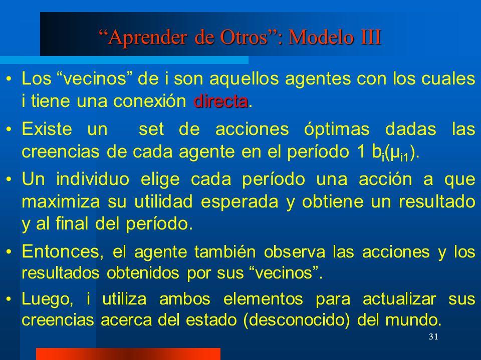 Aprender de Otros : Modelo III