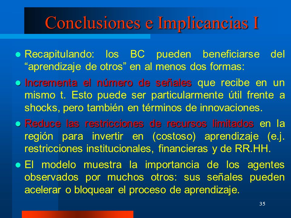Conclusiones e Implicancias I