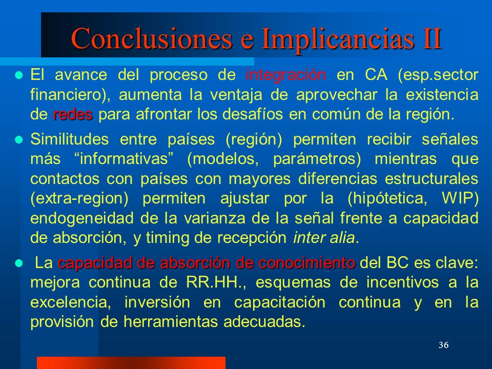 Conclusiones e Implicancias II