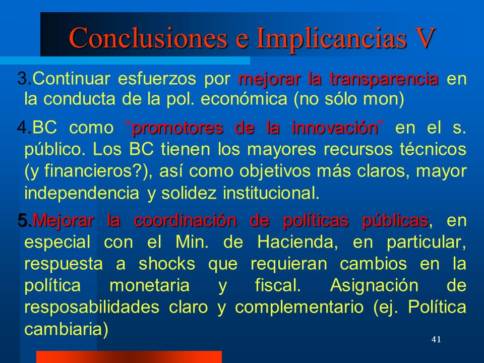 Conclusiones e Implicancias V
