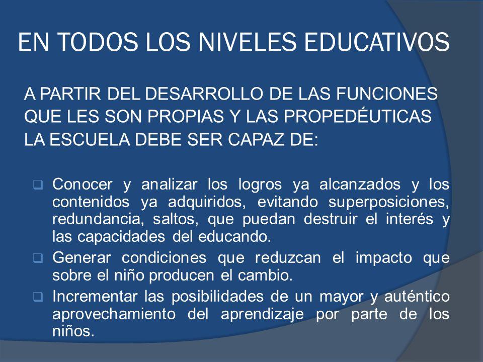 EN TODOS LOS NIVELES EDUCATIVOS