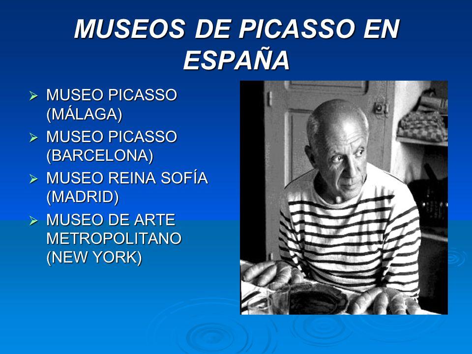 MUSEOS DE PICASSO EN ESPAÑA