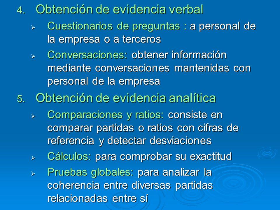 Obtención de evidencia verbal