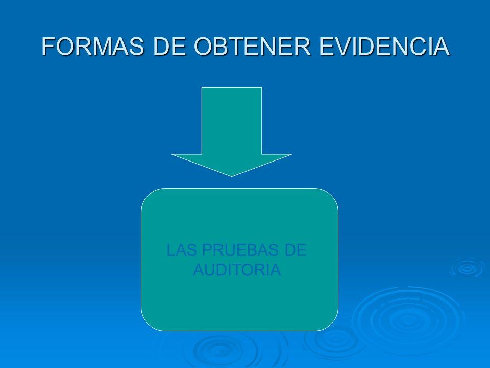 FORMAS DE OBTENER EVIDENCIA