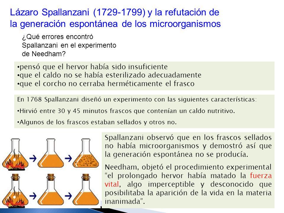 Lázaro Spallanzani (1729-1799) y la refutación de la generación espontánea de los microorganismos
