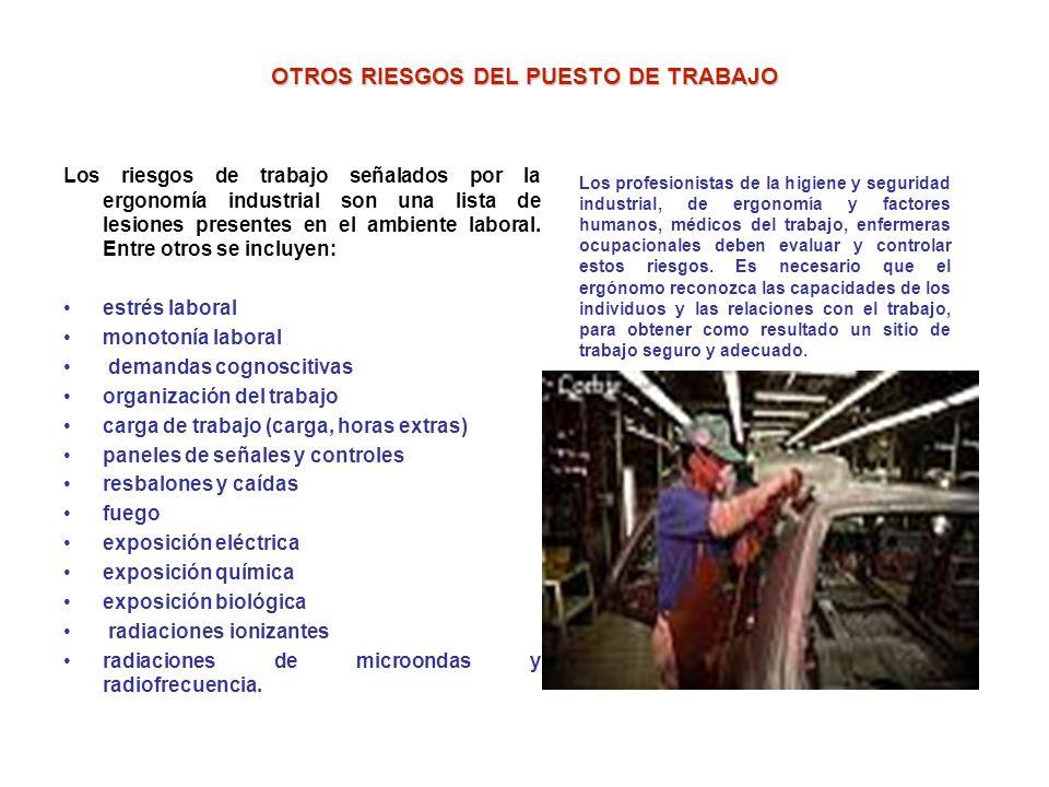 OTROS RIESGOS DEL PUESTO DE TRABAJO