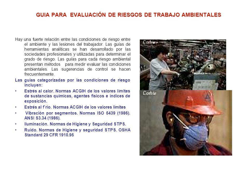 GUIA PARA EVALUACIÓN DE RIESGOS DE TRABAJO AMBIENTALES