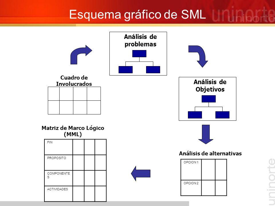 Esquema gráfico de SML Análisis de problemas Análisis de Objetivos