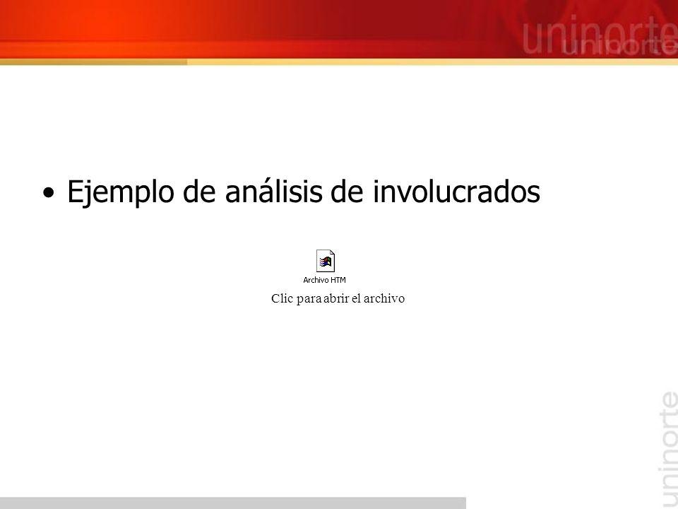 Ejemplo de análisis de involucrados