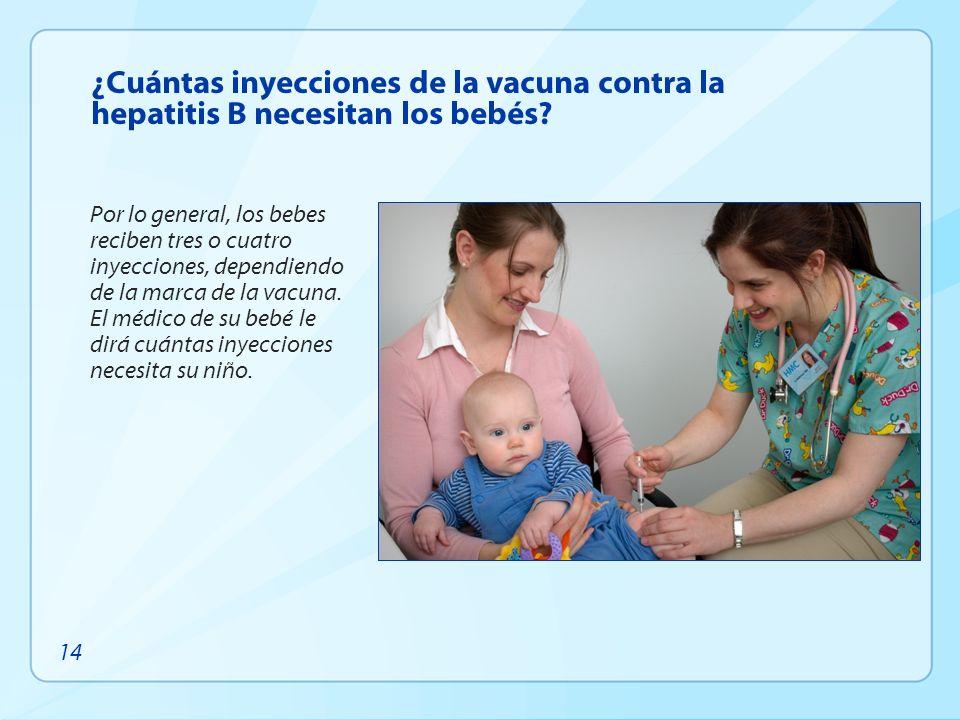 ¿Cuántas inyecciones de la vacuna contra la hepatitis B necesitan los bebés
