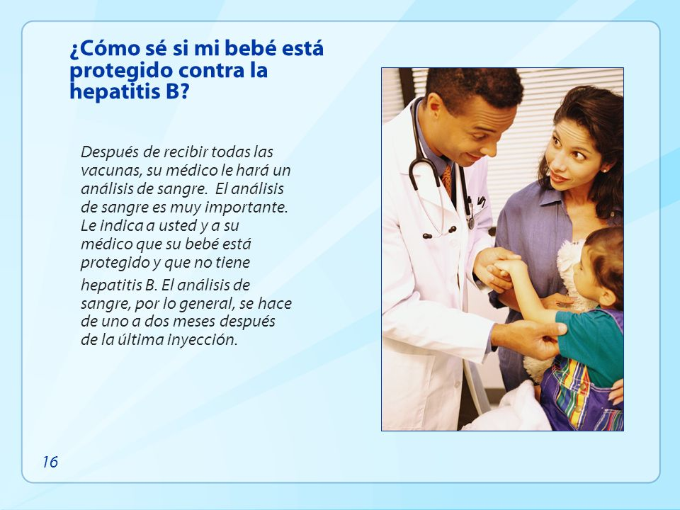 ¿Cómo sé si mi bebé está protegido contra la hepatitis B