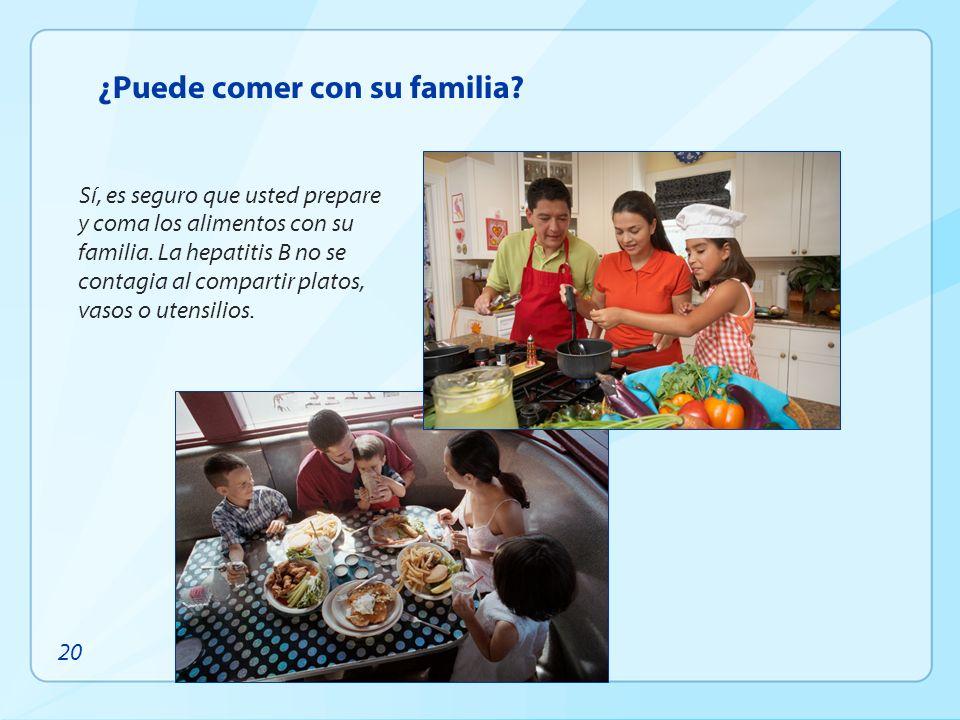 ¿Puede comer con su familia