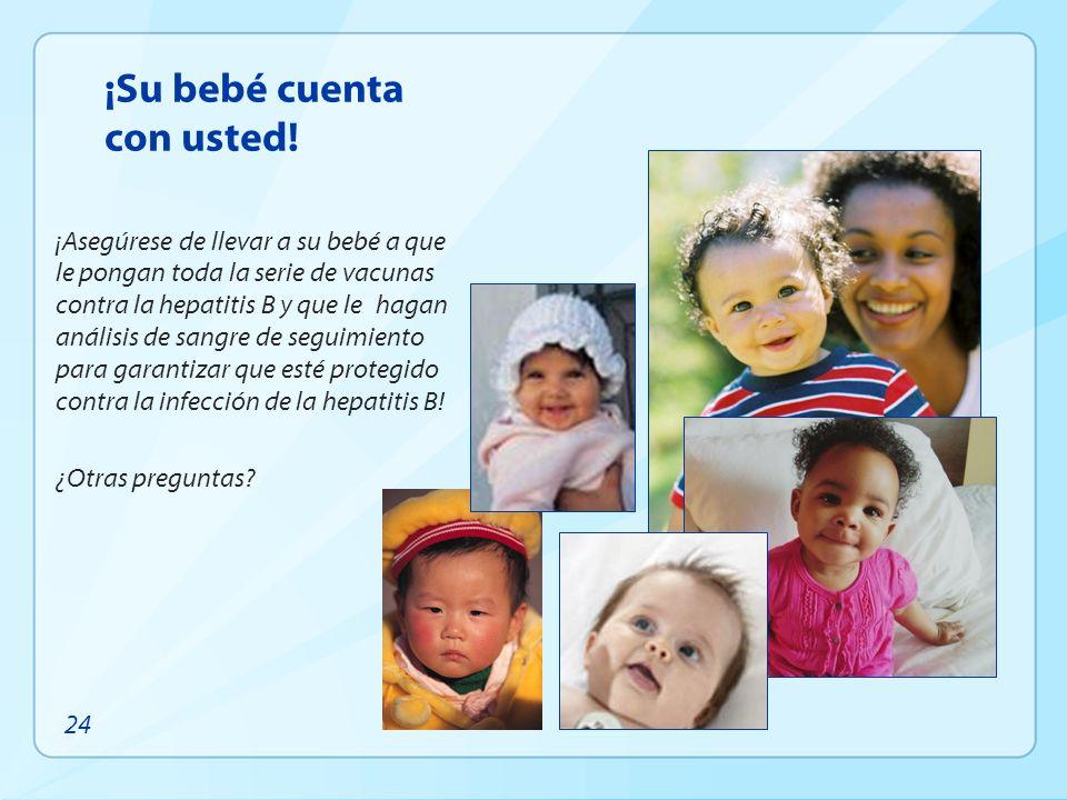 ¡Su bebé cuenta con usted!