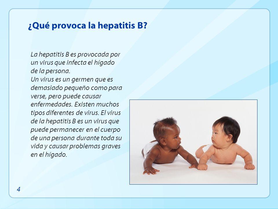 ¿Qué provoca la hepatitis B