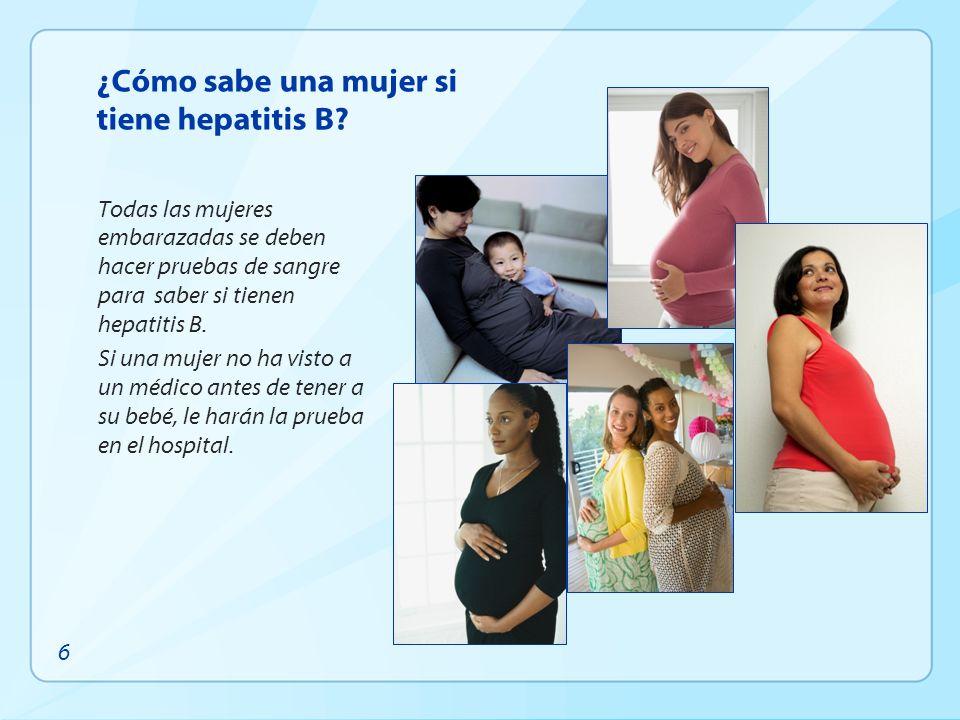 ¿Cómo sabe una mujer si tiene hepatitis B