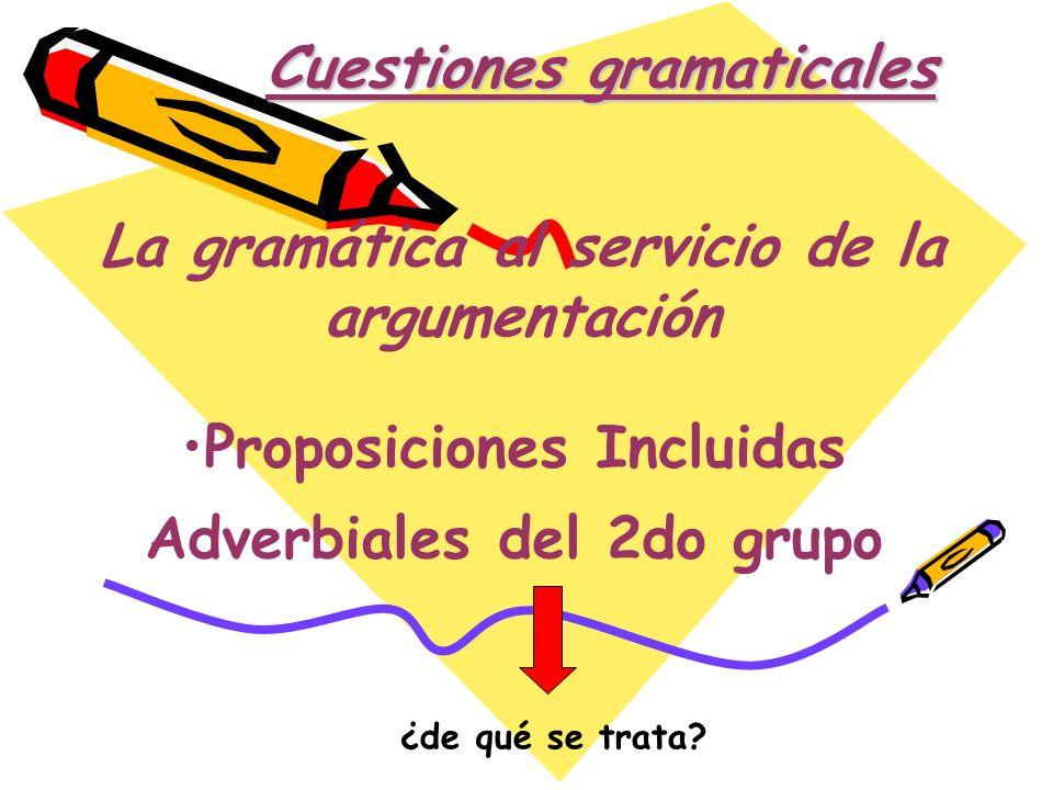 Cuestiones gramaticales