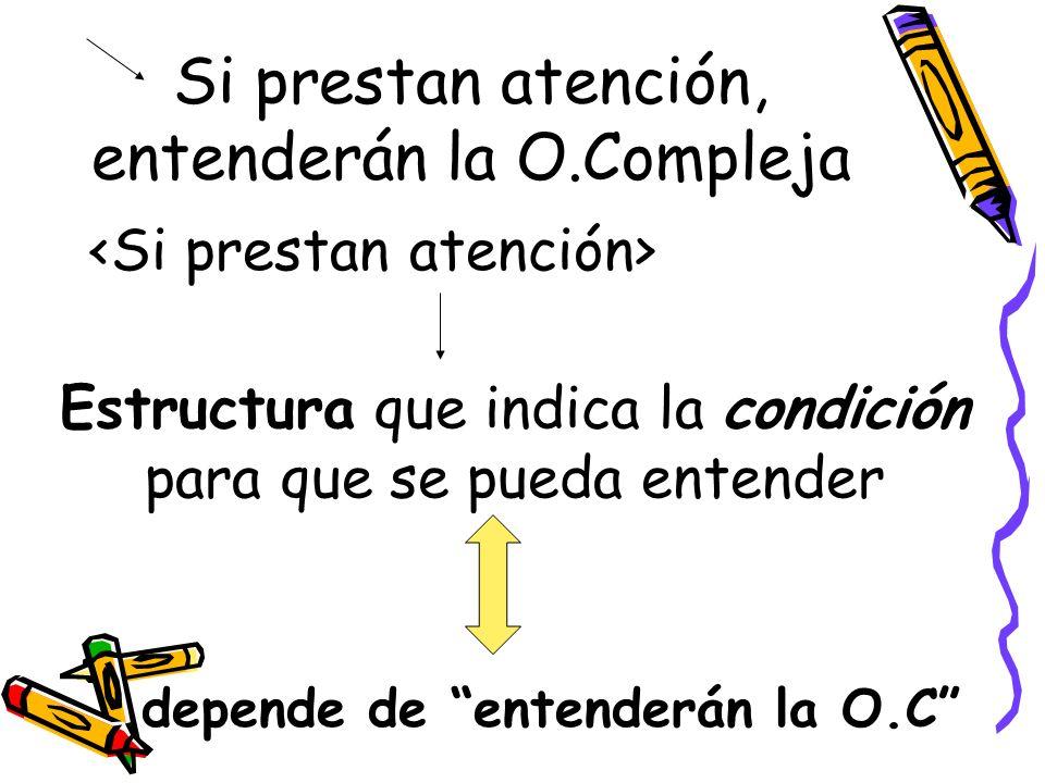 Si prestan atención, entenderán la O.Compleja
