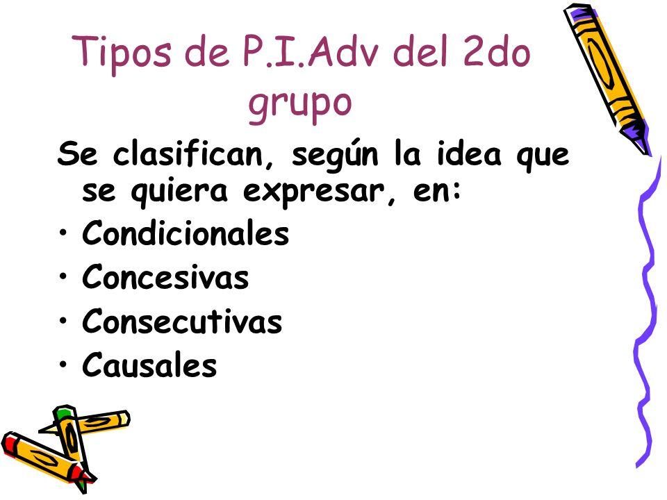 Tipos de P.I.Adv del 2do grupo