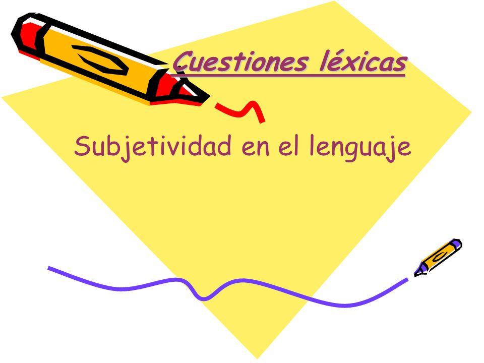 Subjetividad en el lenguaje