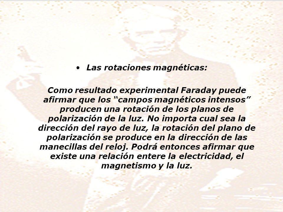 Las rotaciones magnéticas: