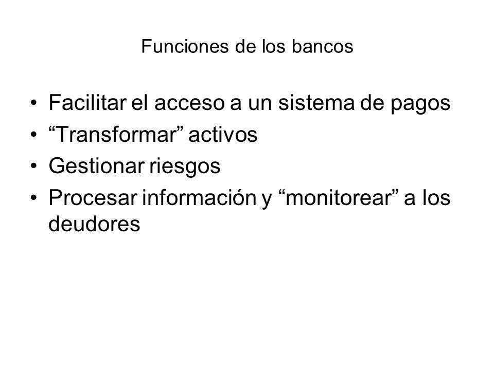 Funciones de los bancos