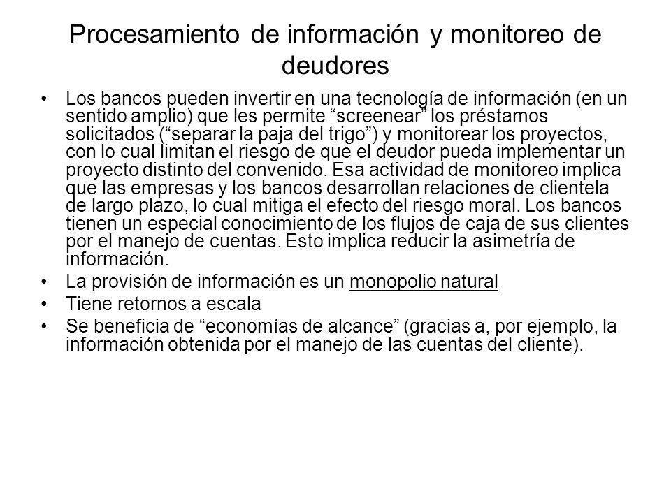Procesamiento de información y monitoreo de deudores