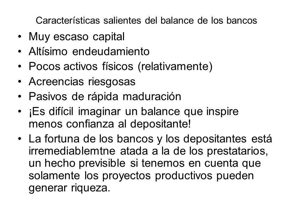Características salientes del balance de los bancos