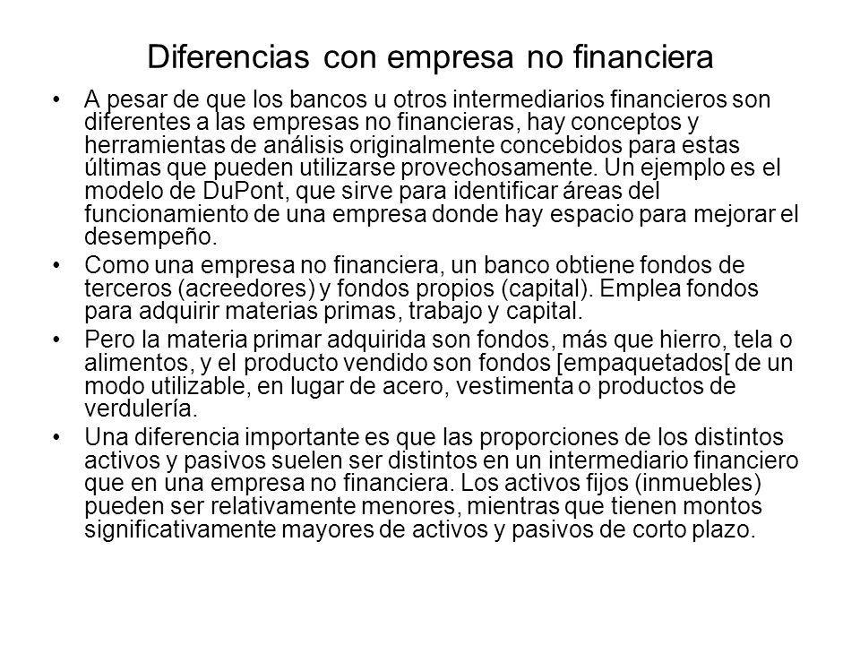 Diferencias con empresa no financiera