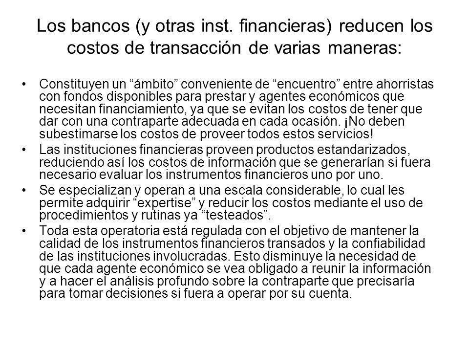 Los bancos (y otras inst