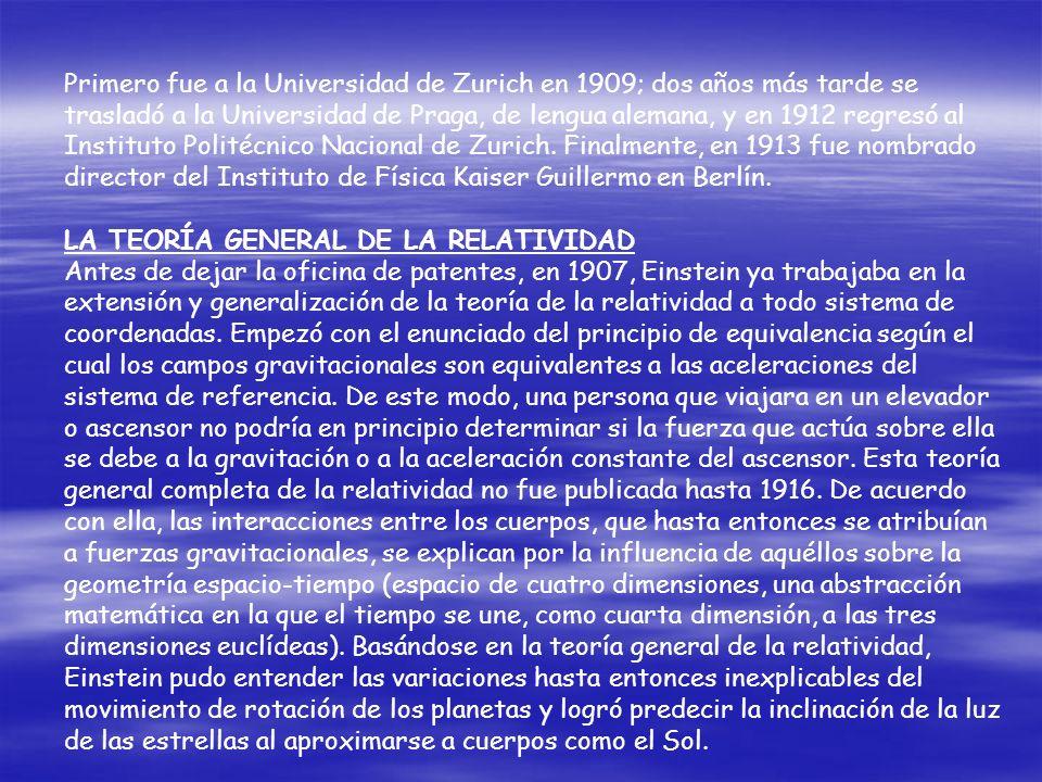 Primero fue a la Universidad de Zurich en 1909; dos años más tarde se trasladó a la Universidad de Praga, de lengua alemana, y en 1912 regresó al Instituto Politécnico Nacional de Zurich. Finalmente, en 1913 fue nombrado director del Instituto de Física Kaiser Guillermo en Berlín.