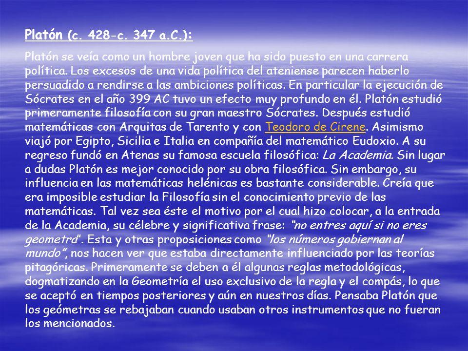 Platón (c. 428-c. 347 a.C.):