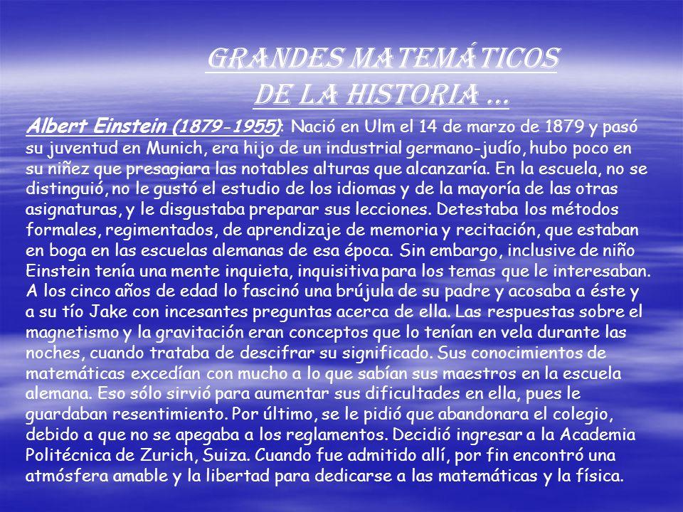 Grandes Matemáticos De la Historia …