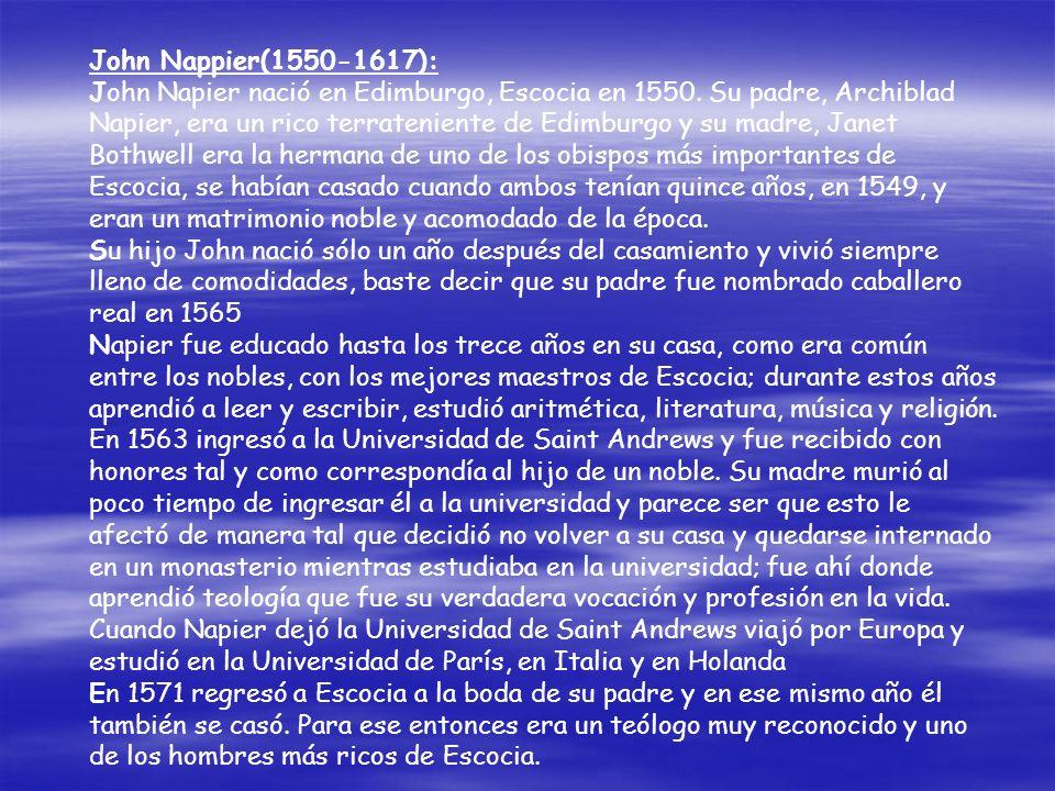 John Nappier(1550-1617):