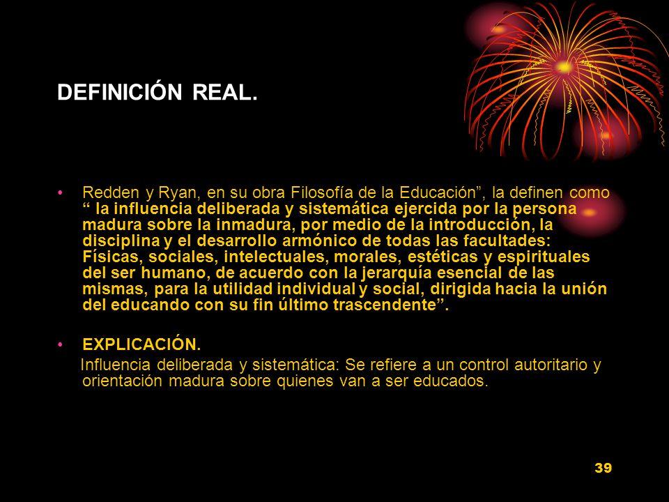 DEFINICIÓN REAL.