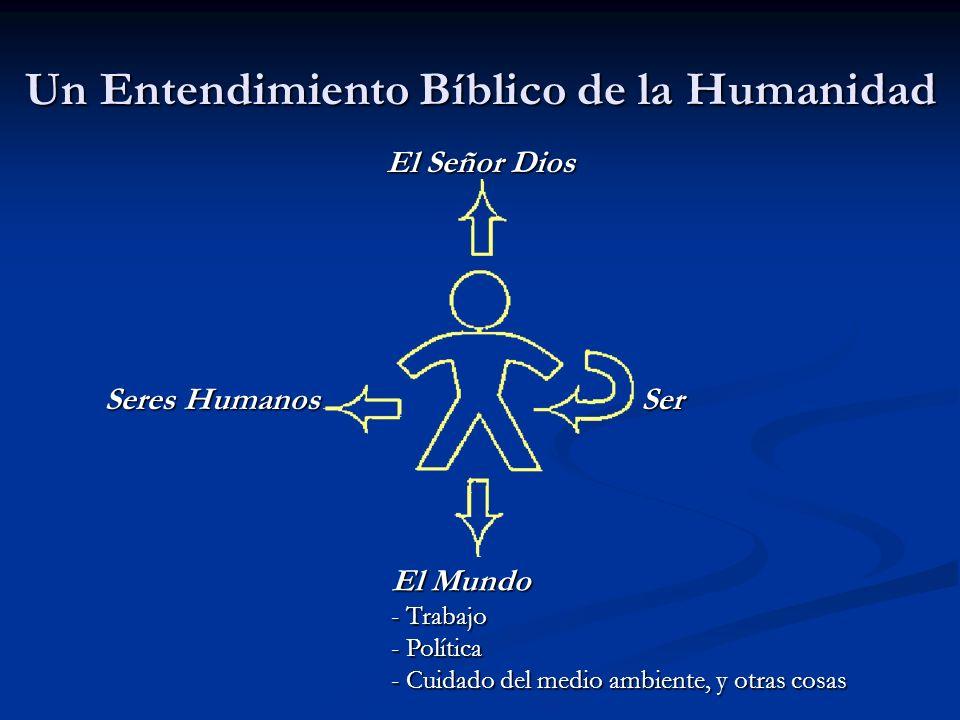Un Entendimiento Bíblico de la Humanidad